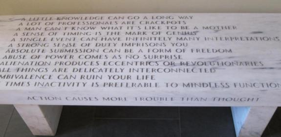 Jenny Holzer, bench at American Academy in Berlin