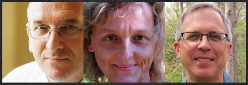 L-R: Michel Bauwens, Silke Helfrich, David Bollier. Read more here.